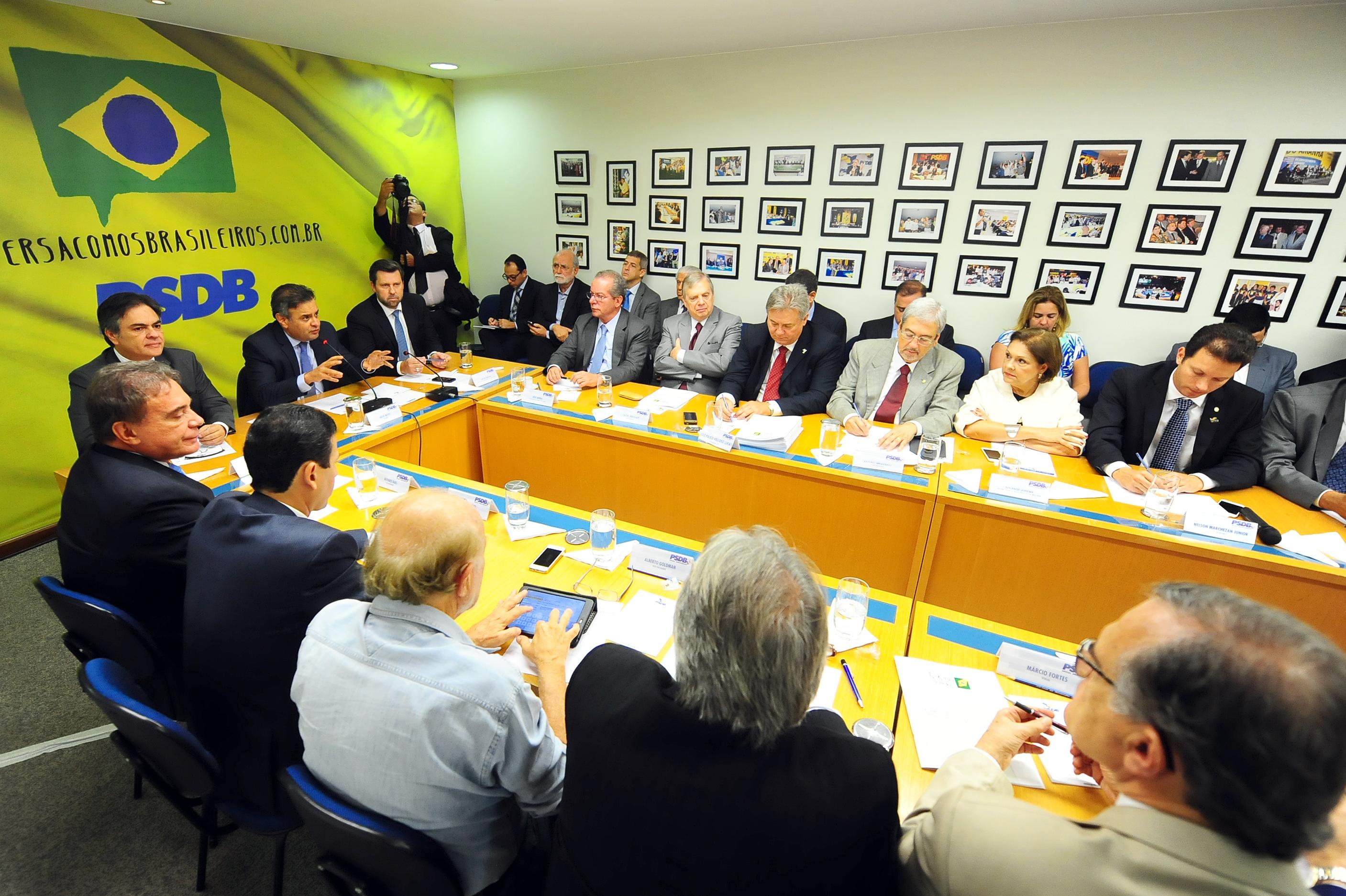 Reunião da Executiva do PSDB, em 2019.
