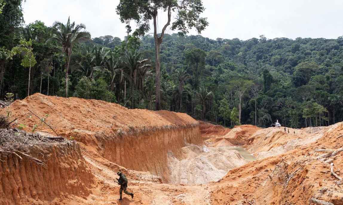 Obter ouro é o principal objetivo da mineração ilegal na AmazôniaObter ouro é o principal objetivo da mineração ilegal na Amazônia (Foto: Ascom/Ibama)