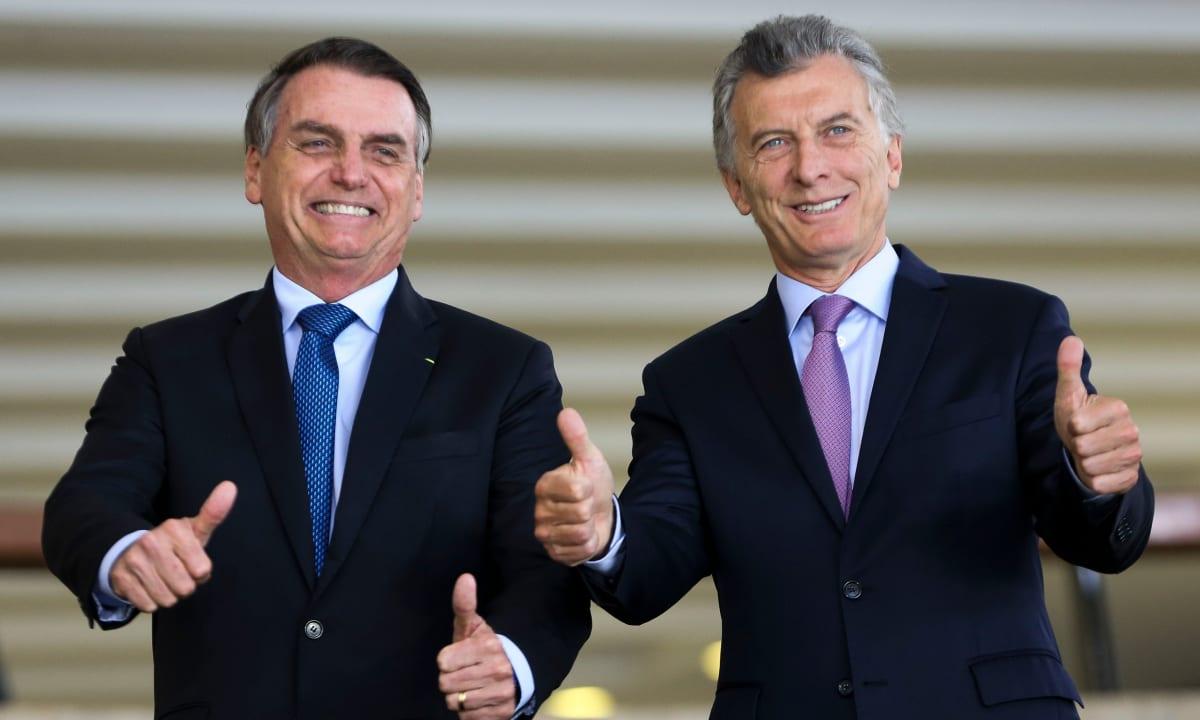 O presidente Jair Bolsonaro recebe o presidente da Argentina, Mauricio Macri, para almoço no Palácio do Itamaraty. (Foto: Marcelo Camargo/EBC)