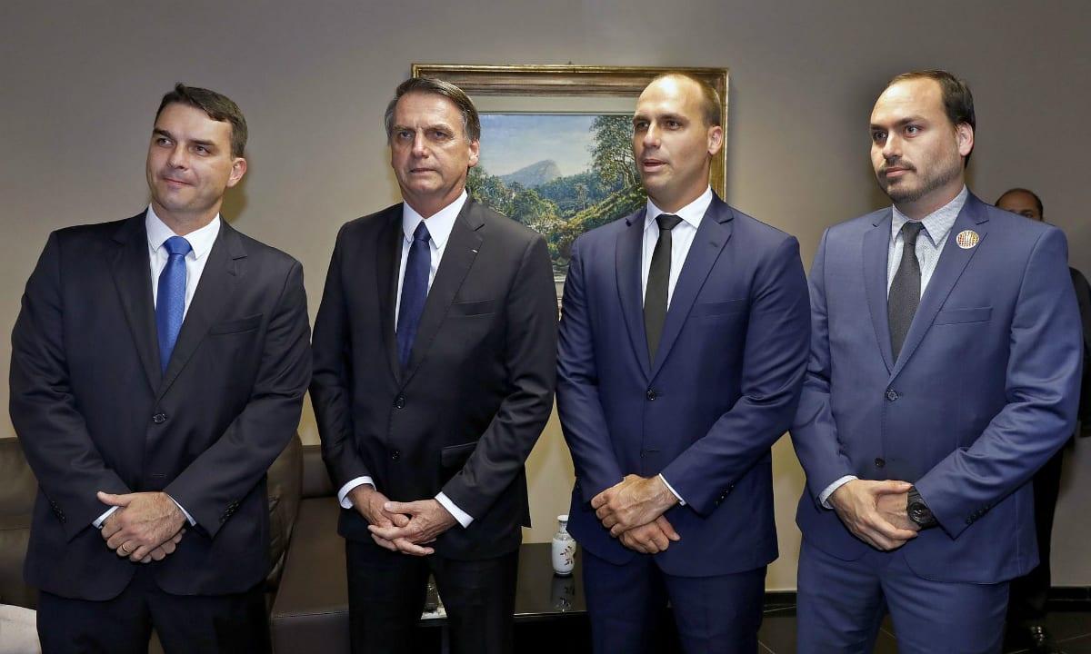 O Recruta Zero e seus Zeros à esquerda, Flávio, Eduardo e Carlos (Foto: Roberto Jayme/ASCOM)