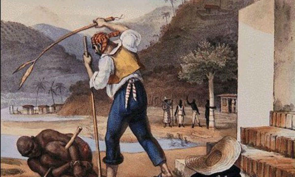 Capataz pune escravo em propriedade rural  – J.B.Debret