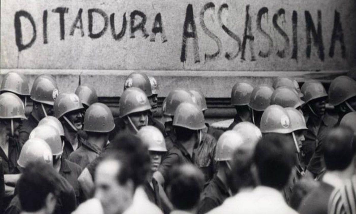 Protesto durante a ditadura no Brasil, iniciada em 1964