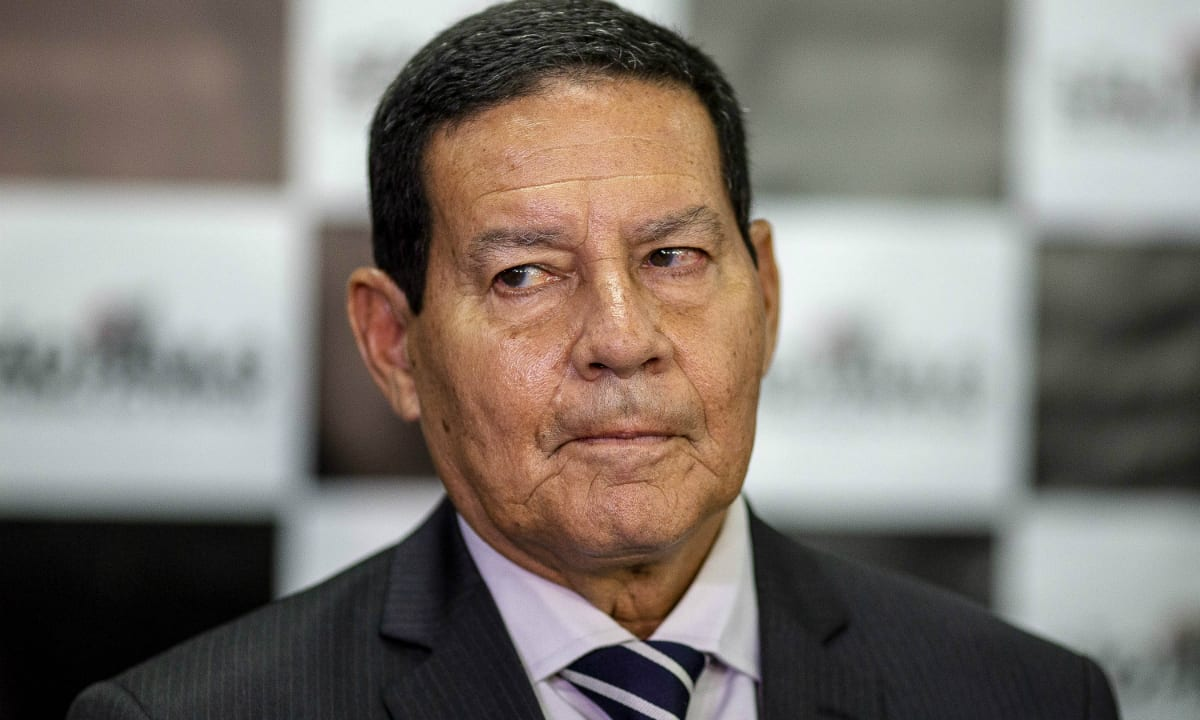 O General Hamilton Mourão, vice-presidente do Brasil. Foto: Suamy Beydoun/AGIF/AFP