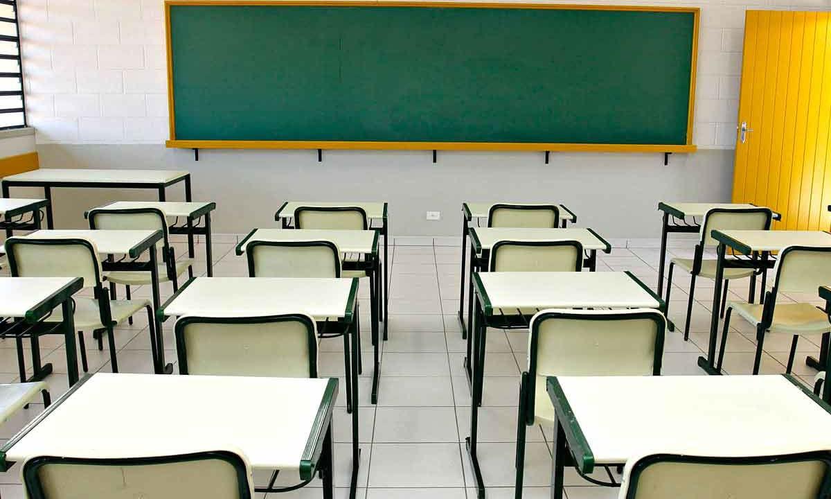 Sala de aula vazia||