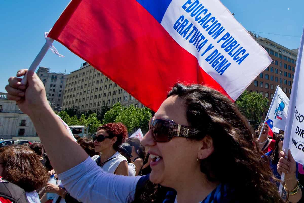 Educação no Chile|Manifestação pela gratuidade na educação