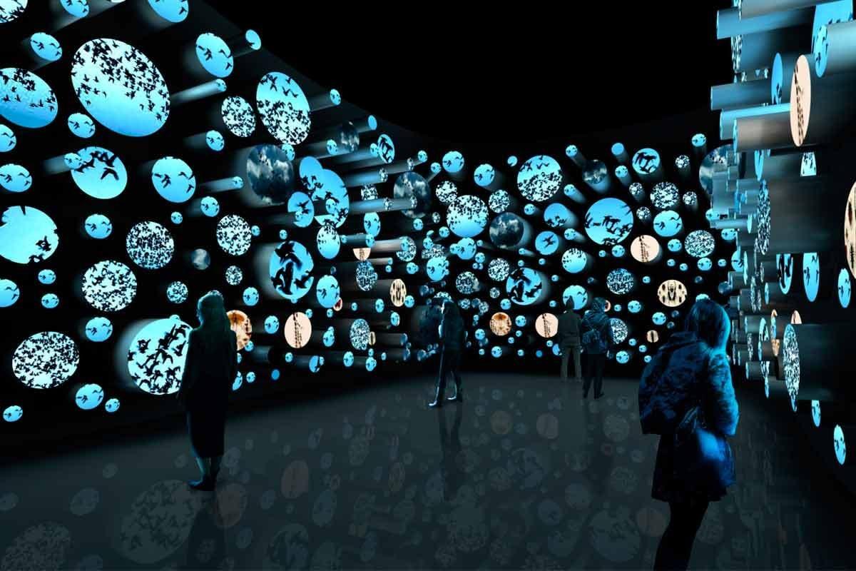 Sala do museu do amanhã O mundo 50 anos à frente da visita