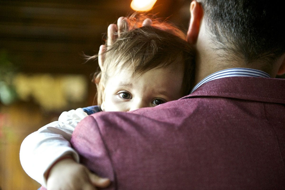 Pai com bebê