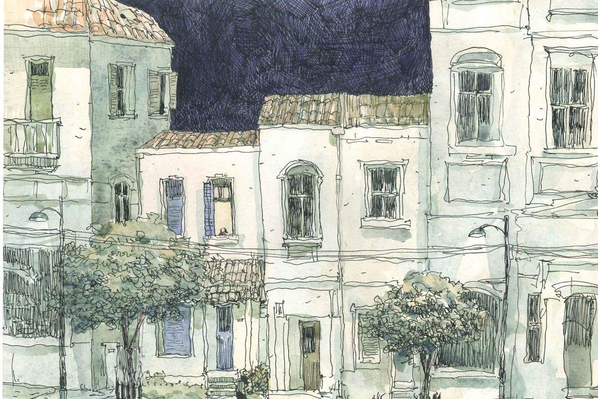 Ilustração de Odilon Moraes para o conto de Pedro Veludo