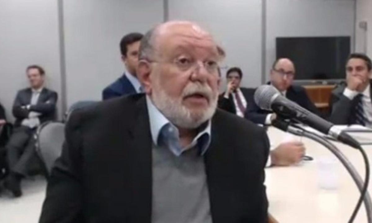 O ex-empreiteiro Léo Pinheiro dando depoimento a Sérgio Moro. (Foto: Reprodução/Youtube)