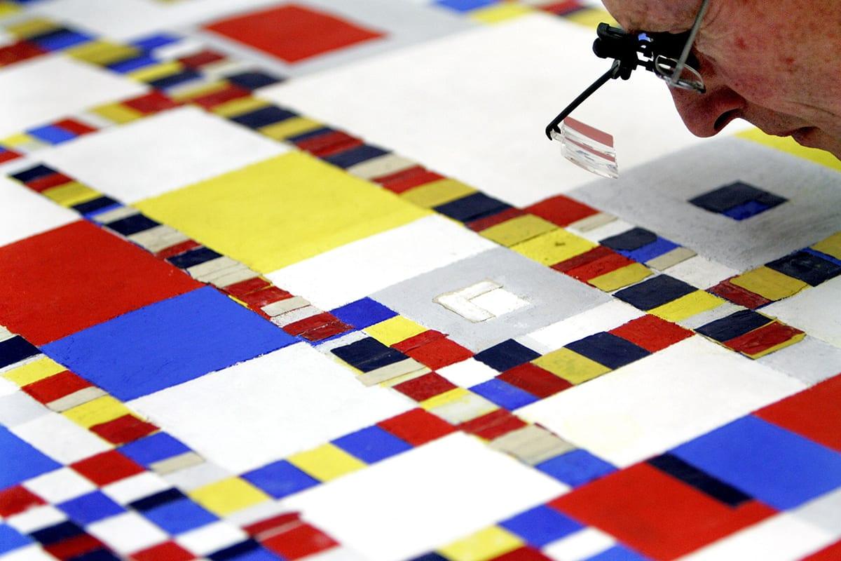 Mondrian|Quadro I com Preto