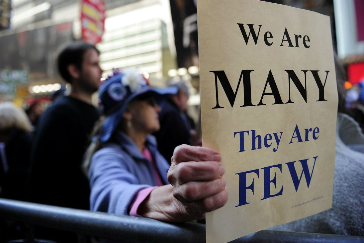Ocupe Wall St|We are many they are few|