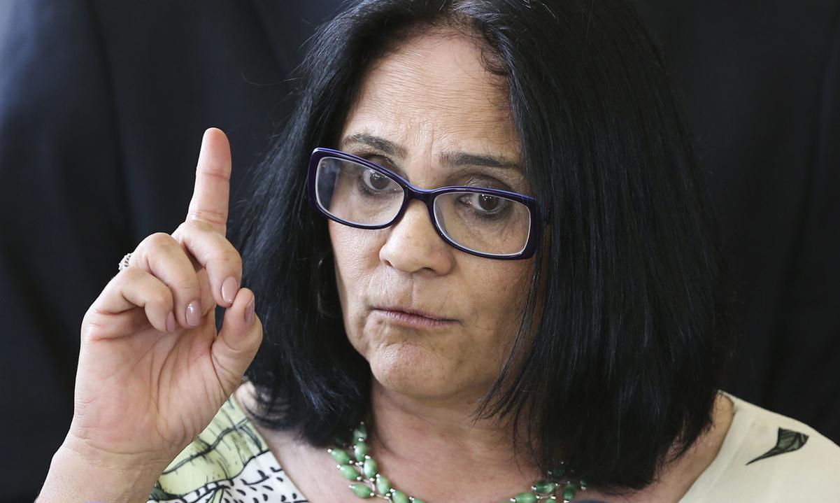 A ministra Damares Alves. Foto: Valter Campanato/Agência Brasil