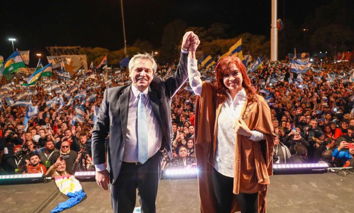Chapa de Alberto Fernández e Cristina Kirchner derrotou o presidente Mauricio Macri. Foto: Frente de Todos Media