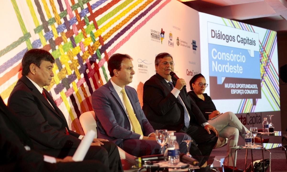 Governadores em evento 'Diálogos Capitais', em São Paulo. (Foto: Wanezza Soares)