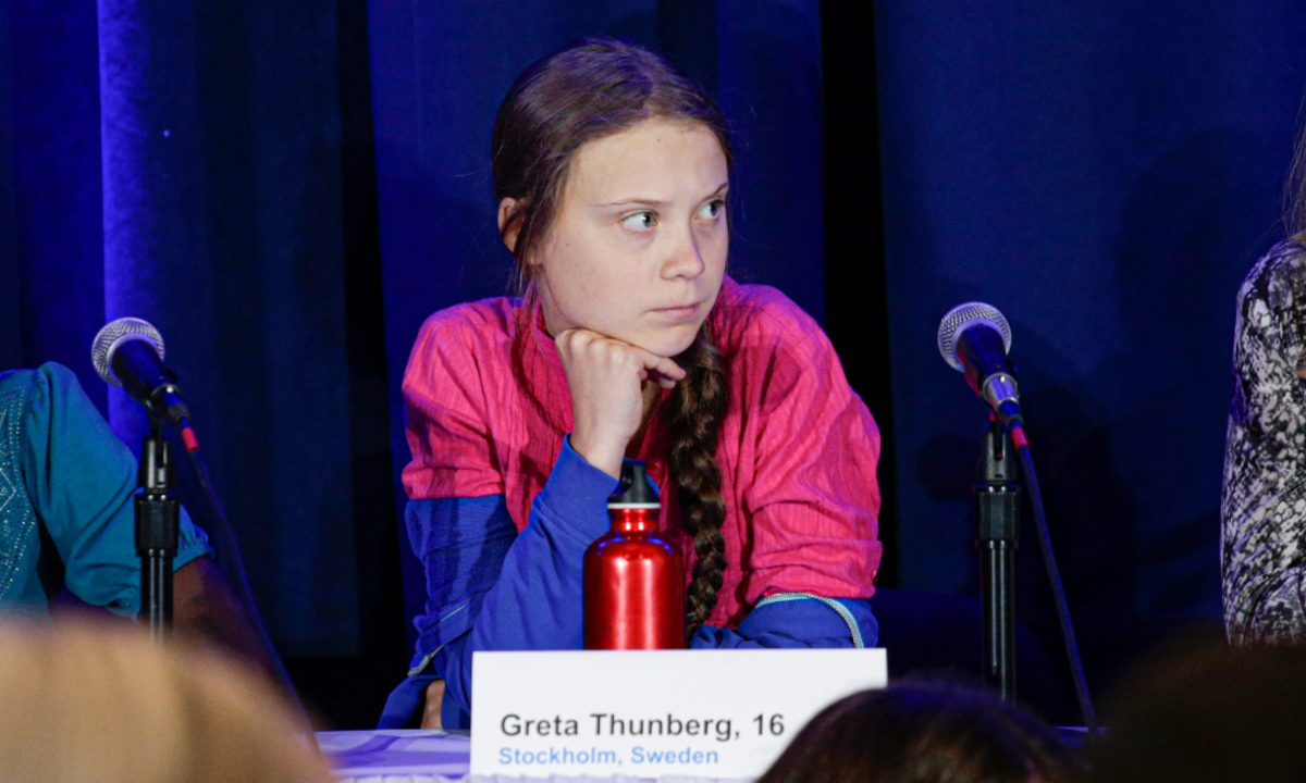 A ativista Greta Thunberg