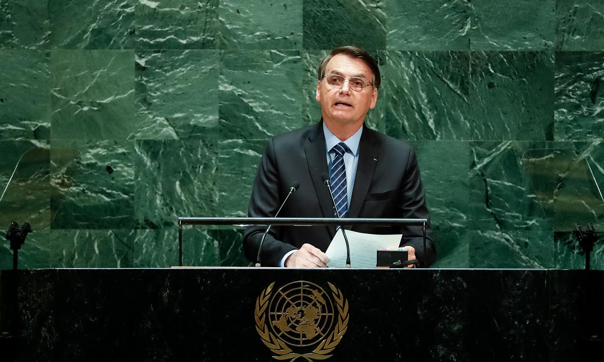 Jair Bolsonaro discursa na Assembleia Geral da ONU, em Nova York. Foto: Alan Santos/PR