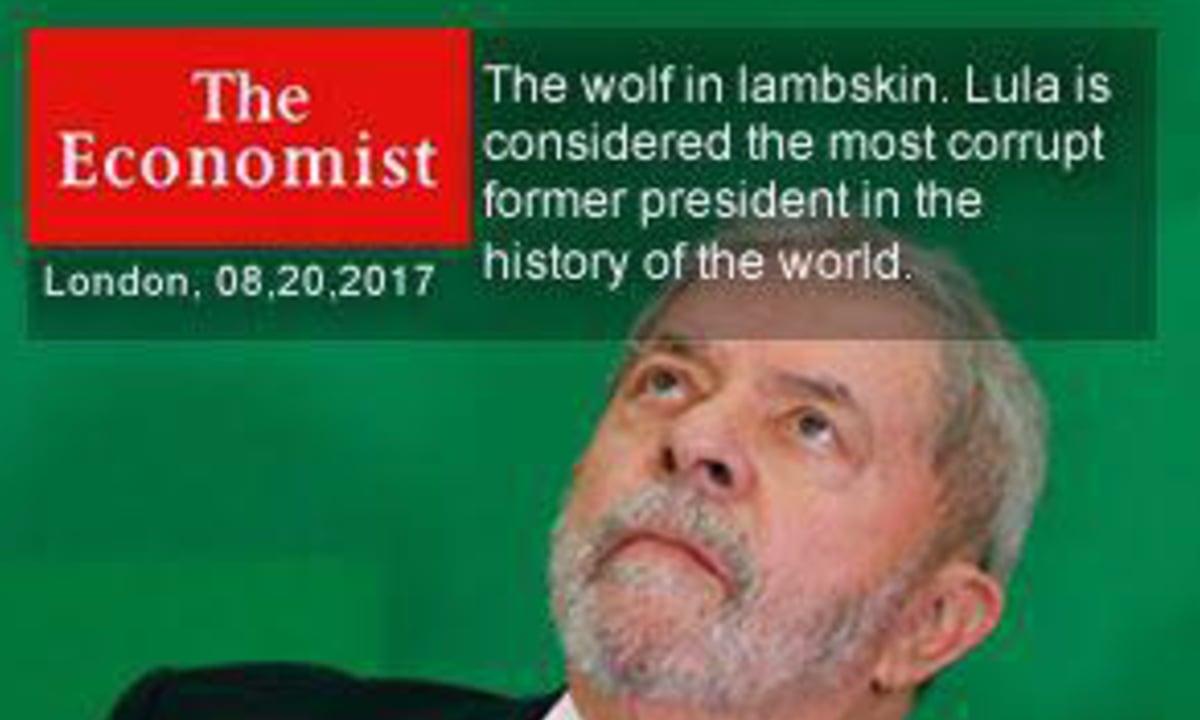 Em caso de marasmo, basta evocar Lula e o PT, e então os dedos se mobilizam em frenética produção de impropérios e mentiras, como uma capa inventada da The Economist