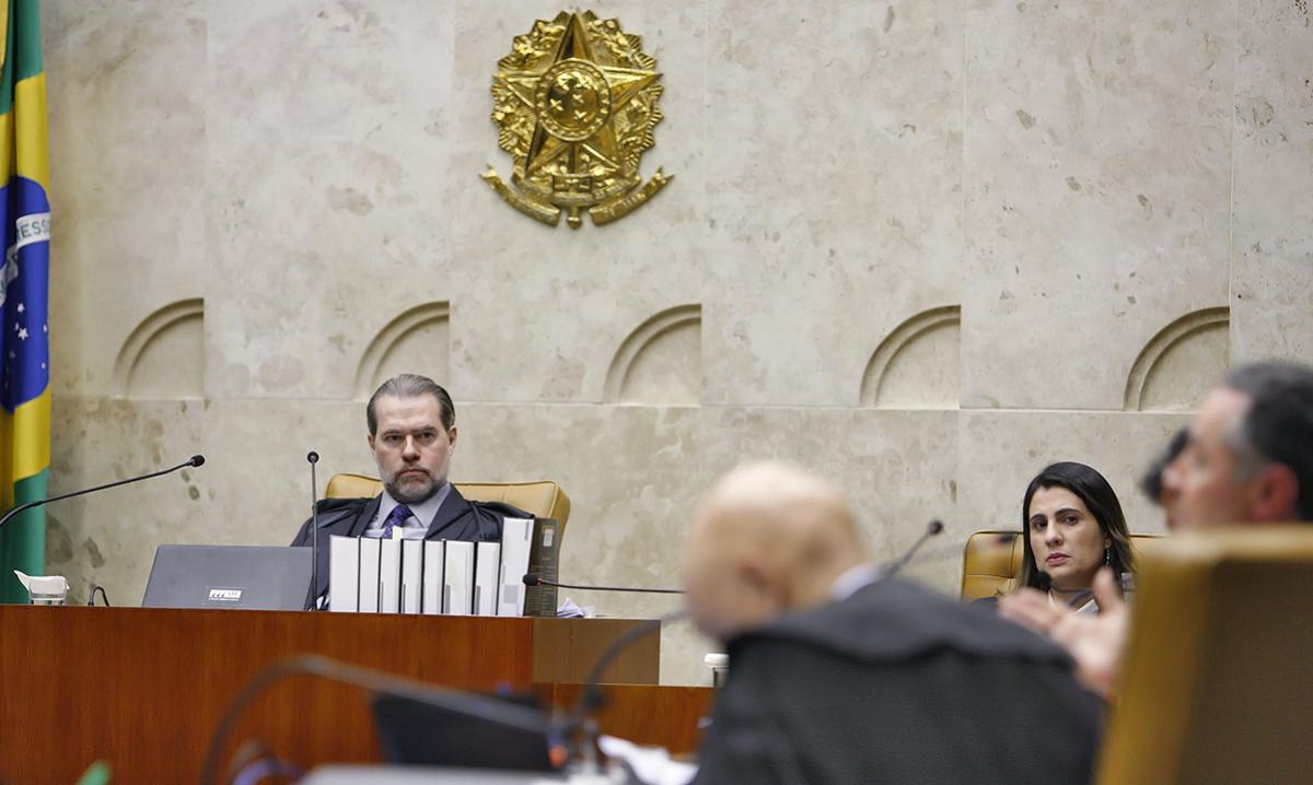 Sessão do Supremo Tribunal Federal, durante julgamento sobre prisão após 2ª instância. (Foto: Felipe Sampaio/SCO/STF)