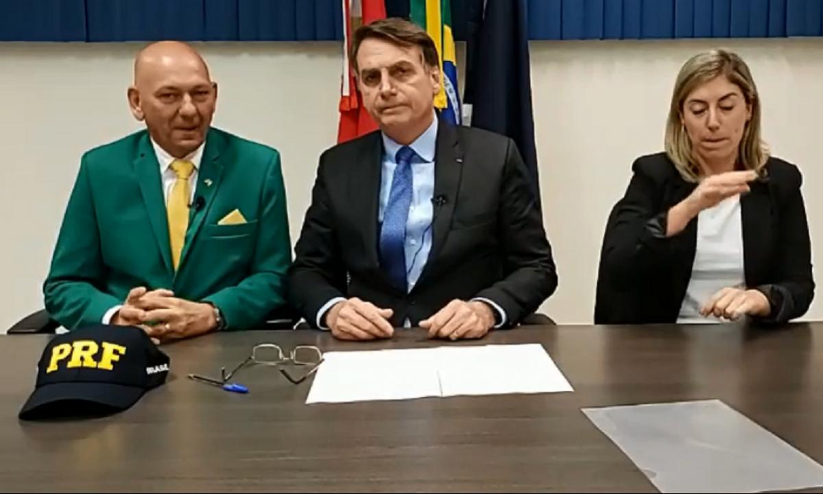 Presidente Jair Bolsonaro junto do empresário Luciano Hang