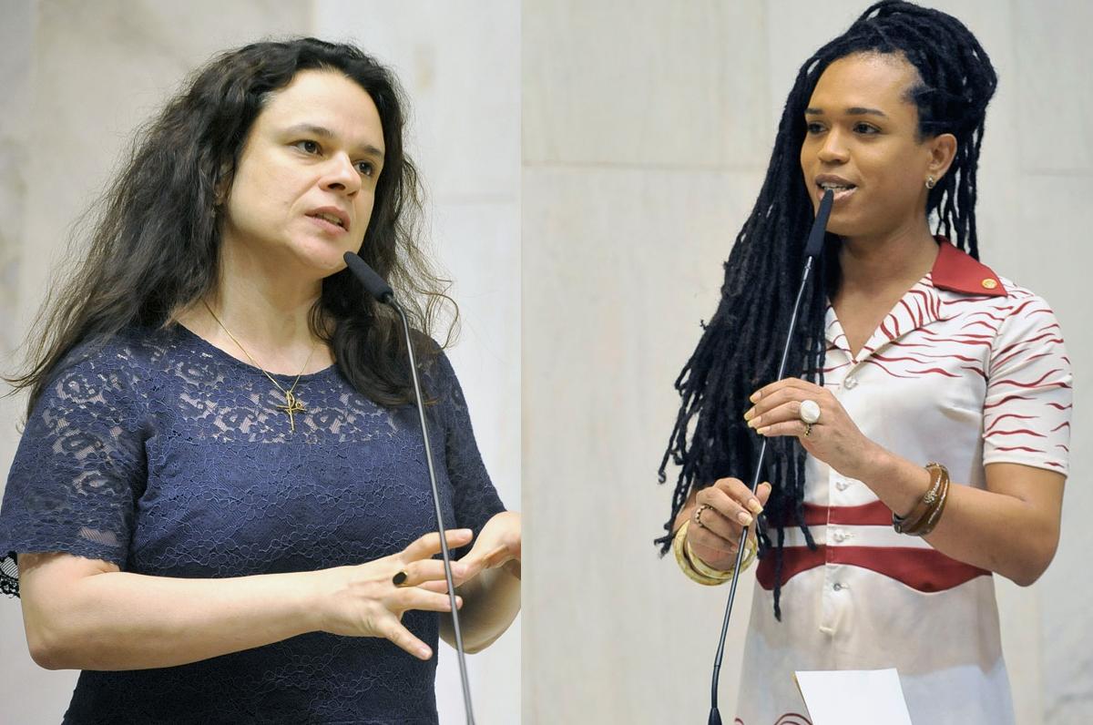 Deputadas estaduais Erica Malunguinho (PSOL)  e Janaína Paschoal (PSL).  Foto: Alesp