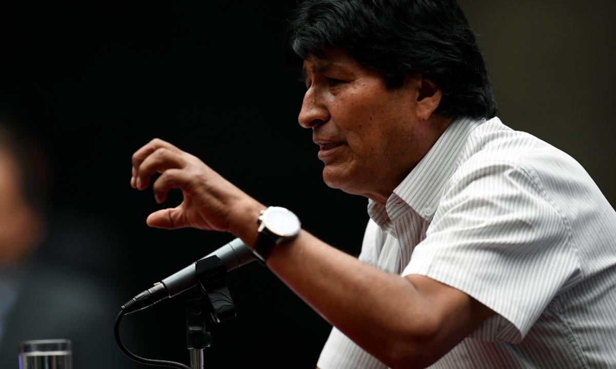 Ex-presidente da Bolívia, Evo Morales. Foto: PEDRO PARDO / AFP