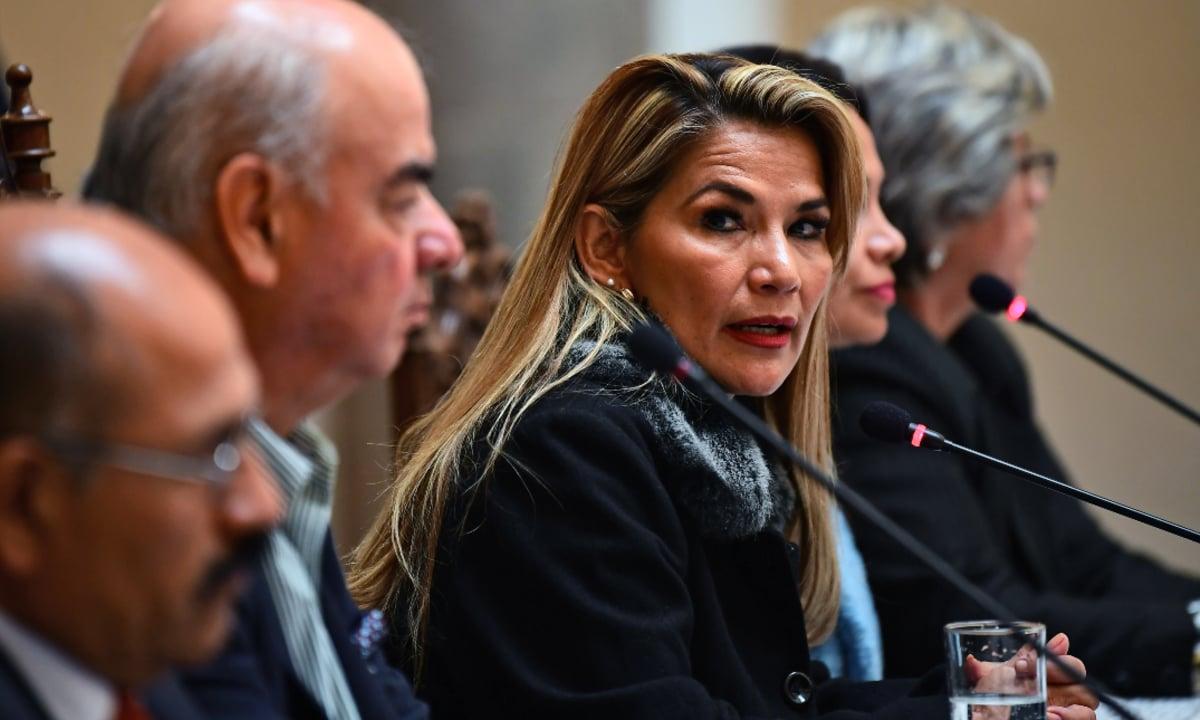 Presidente interina da Bolívia, Jeanine Áñez. Foto: RONALDO SCHEMIDT / AFP