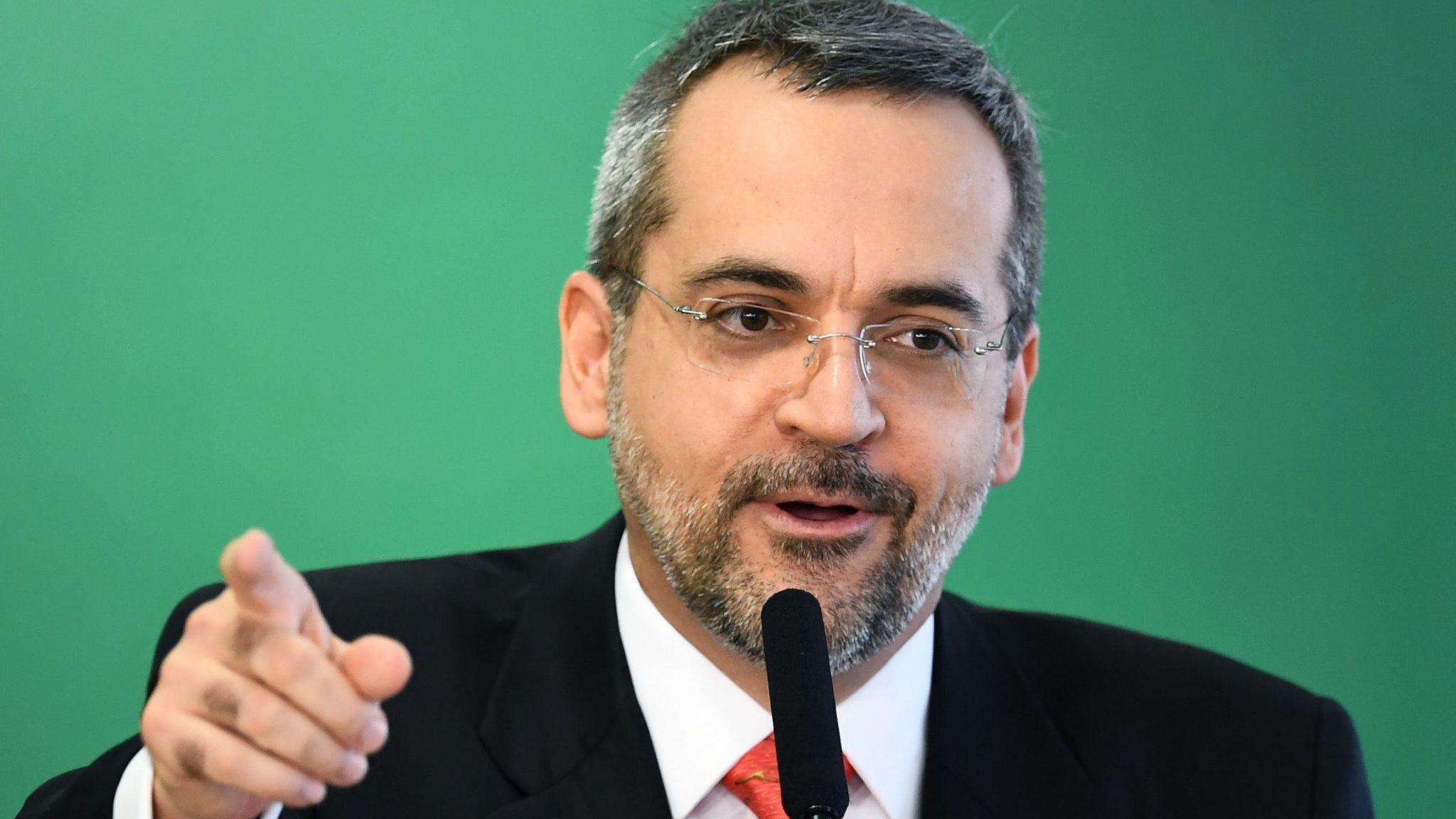 O Ministro da Educação  Abraham Weintraub. Foto: Evaristo Sa/AFP