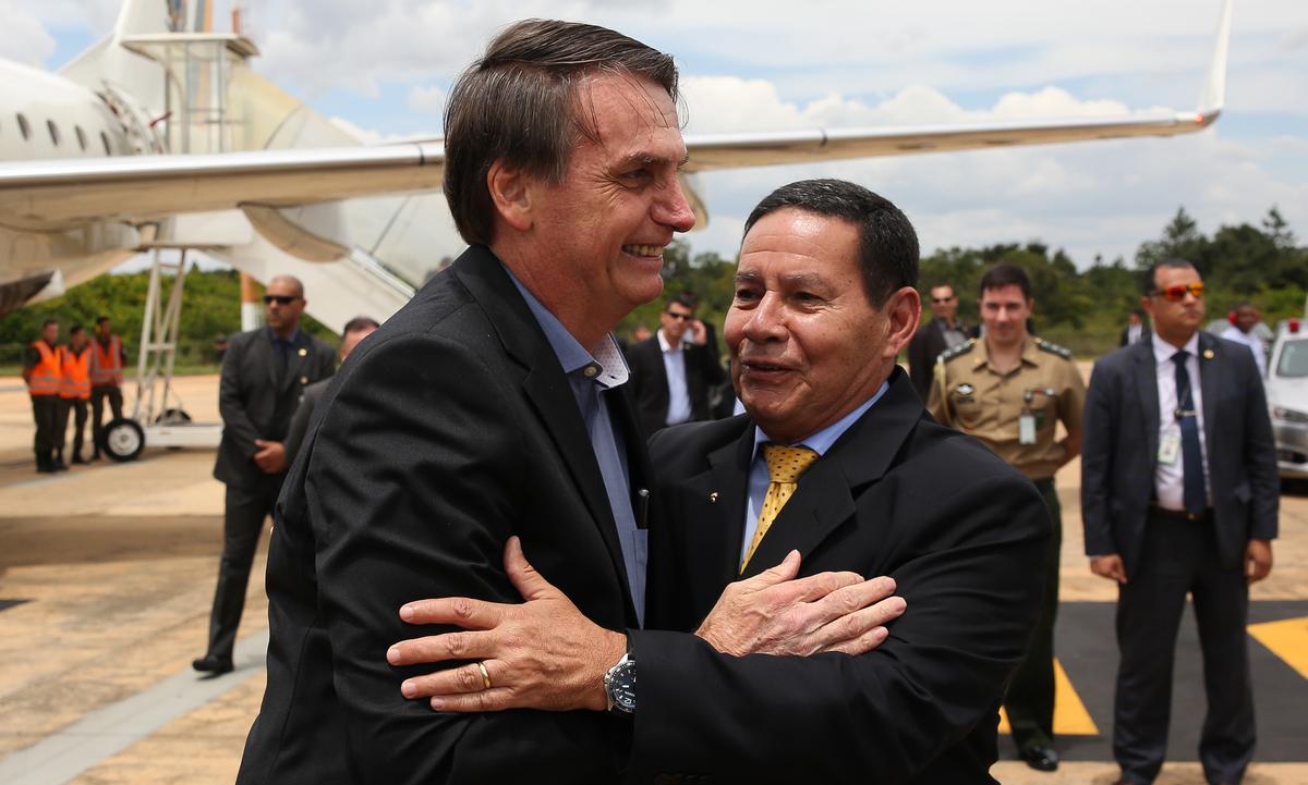 O presidente Jair Bolsonaro e o vice-presidente Hamilton Mourão. Foto: Arquivo/Marcos Corrêa/PR