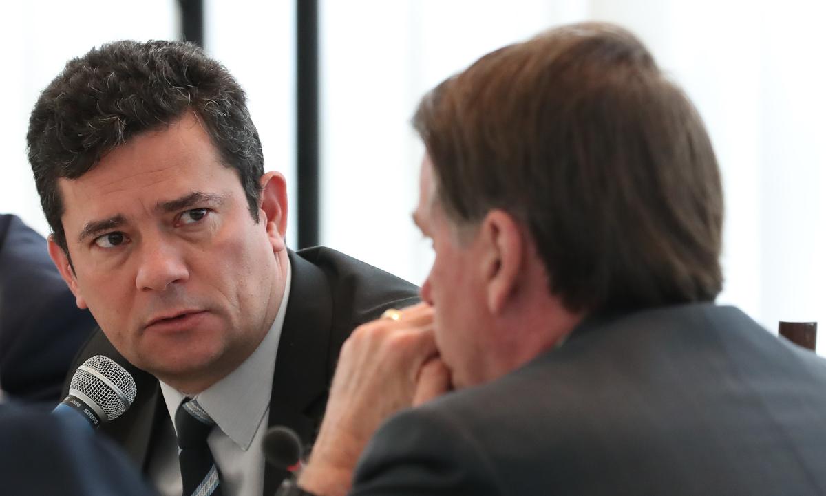 Sergio Moro e Jair Bolsonaro. Foto: Marcos Corrêa/PR