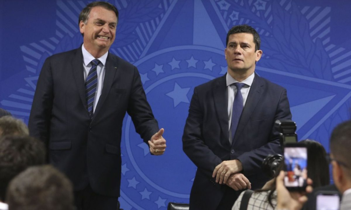 Bolsonaro e Moro. Foto: Agência Brasil.