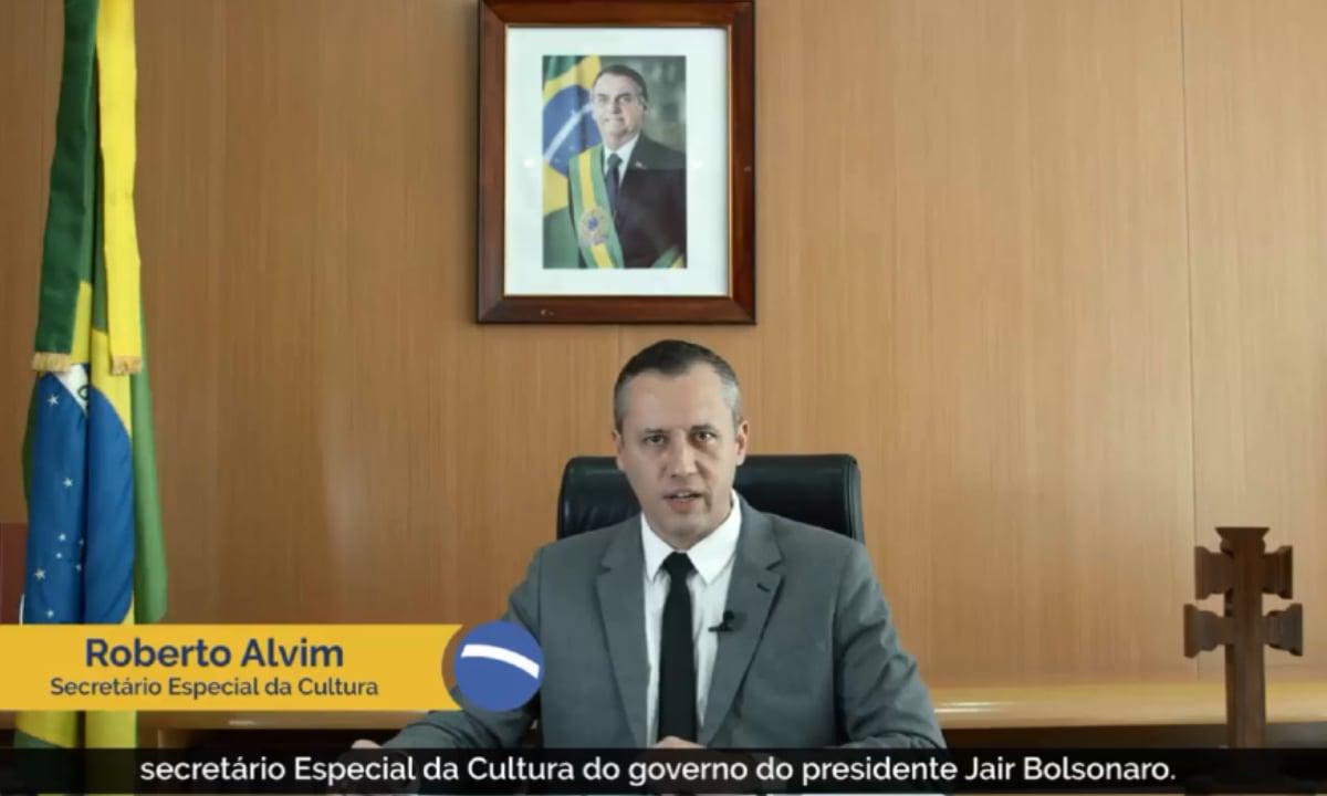 Secretário da Cultura, Roberto Alvim. Foto: reprodução.