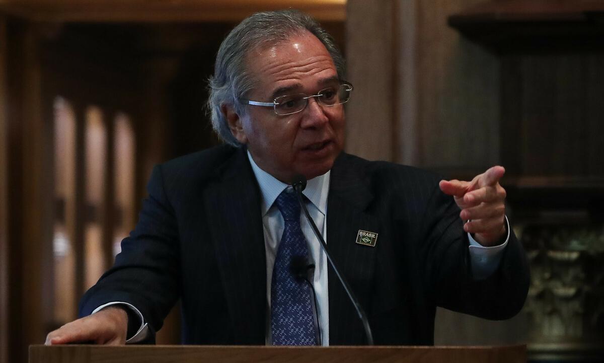 O ministro Paulo Guedes disse que dólar é bom para todo mundo. Foto: Arquivo/Marcos Corrêa/PR