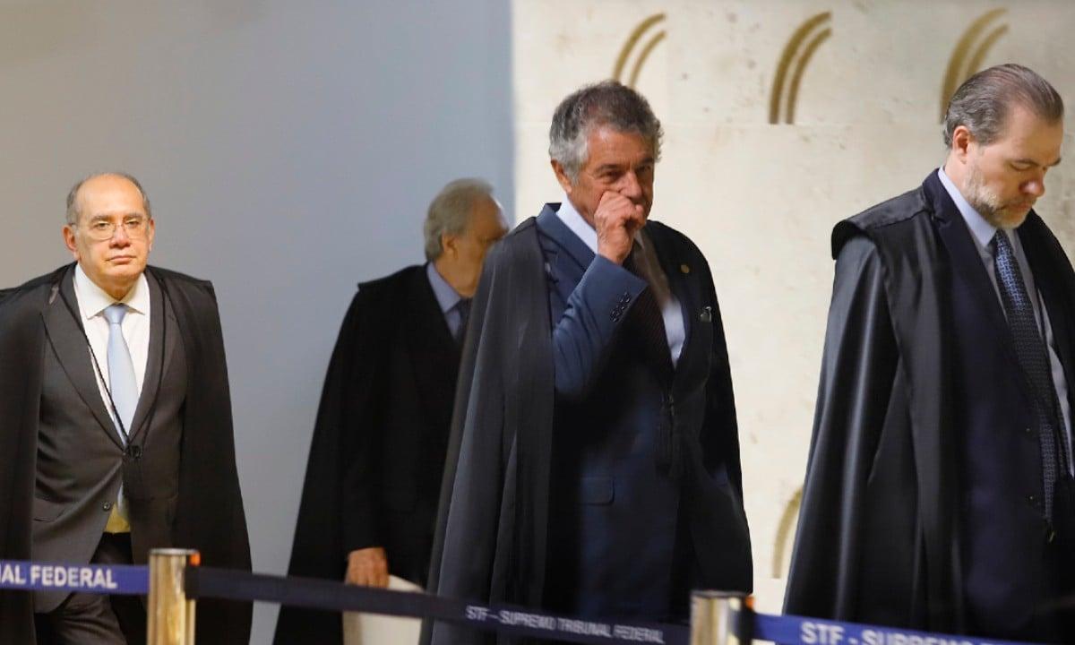 Ministros do STF entrando no plenário para início de sessão. Foto: Rosinei Coutinho/SCO/STF