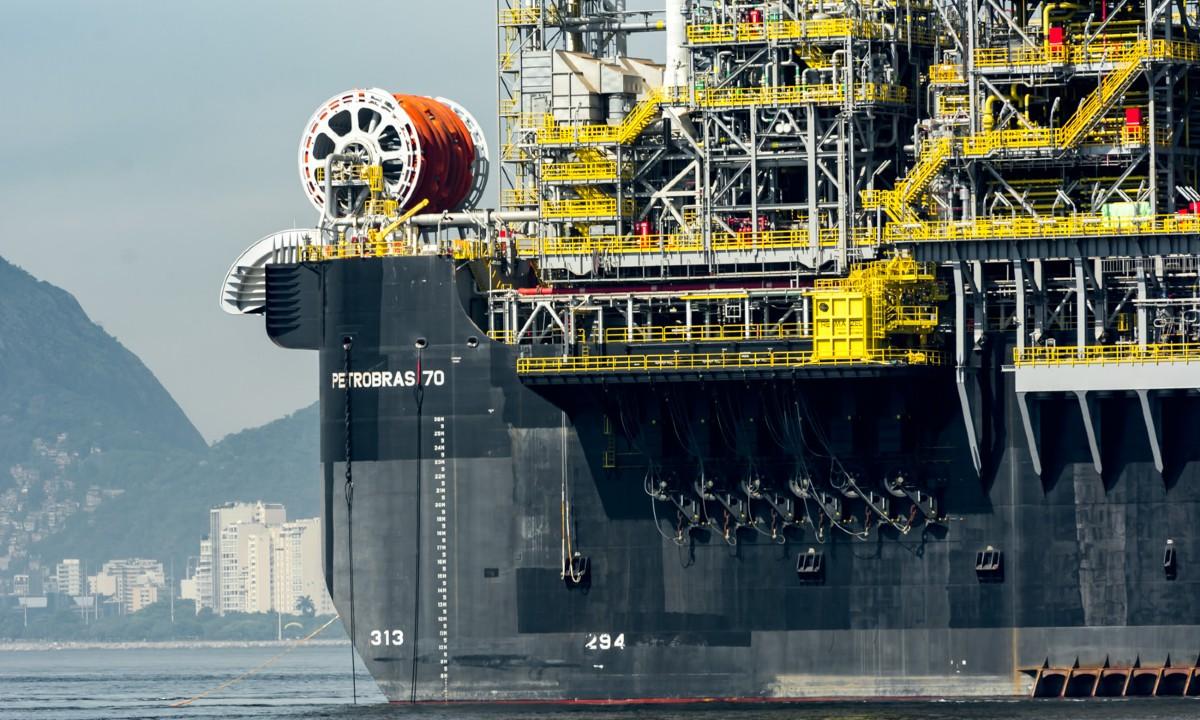 Plataforma P 70 da Petrobras, na Baía de Guanabara (RJ) (Foto: André Motta de Souza /  Agência Petrobras)