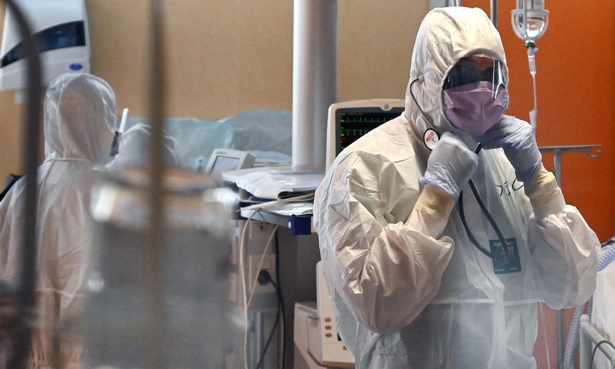 Hospital na Itália recebe casos de coronavírus. Foto: Alberto Pizzoli/AFP