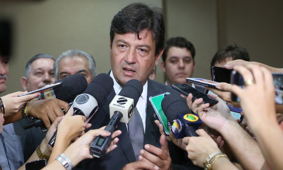 O ministro da Saúde, Luiz Henrique Mandetta, anunciou novas medidas em audiência na Câmara dos Deputados. Foto: Erasmo Salomão/Ministério da Saúde