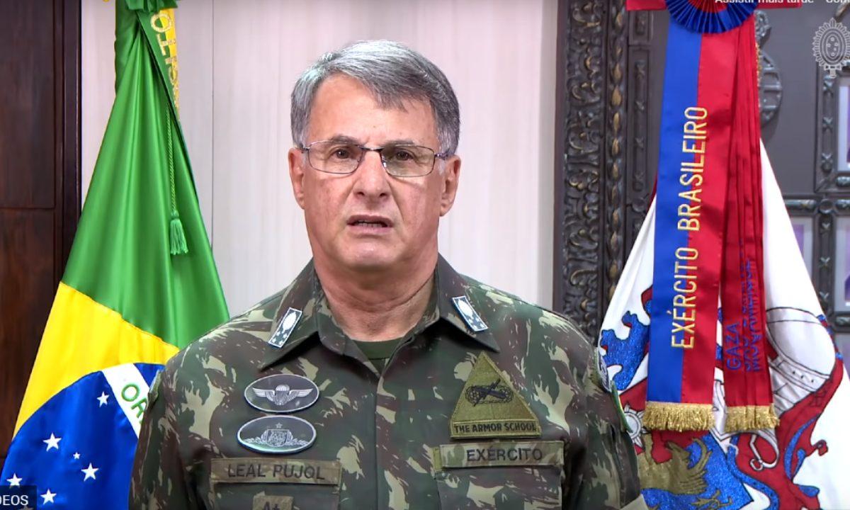 Comandante do Exército brasileiro, general Edson Pujol. Foto: Youtube