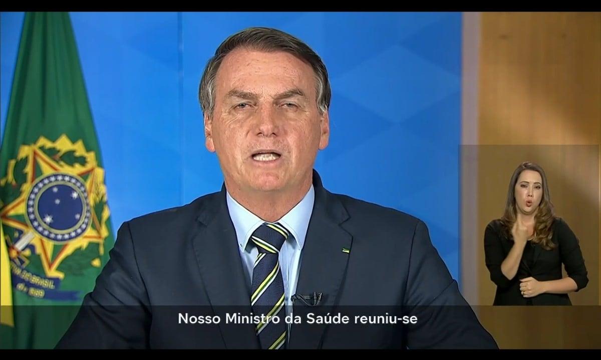 Presidente Jair Bolsonaro durante discurso na TV, em 24 de março de 2020 - Foto: Reprodução