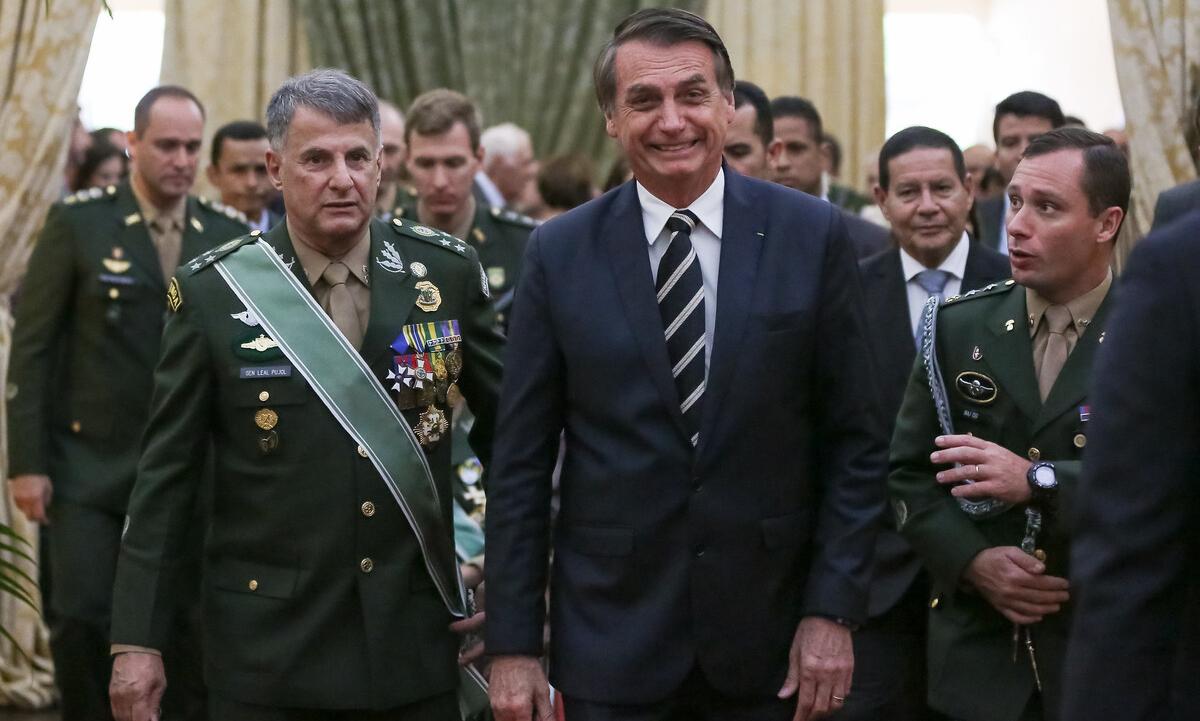 O presidente Jair Bolsonaro, durante solenidade do Exército em 2019. Foto: Marcos Corrêa/PR