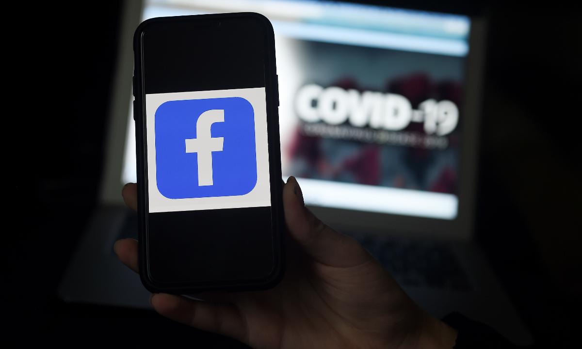 Facebook ajuda no combate ao coronavírus. Foto: AFP