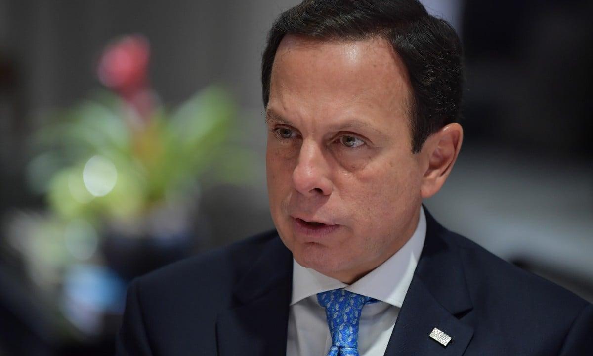 Governador João Doria. Foto: AFP Photos