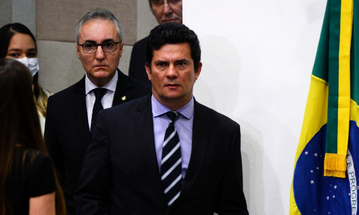 Pronunciamento do ministro Sergio Moro anunciando sua saída do governo Bolsonaro - Foto: Marcello Casal Jr/Agência Brasil
