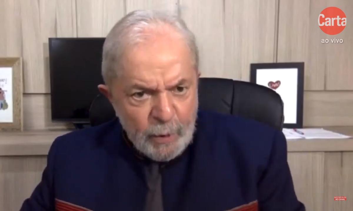 O ex-presidente Luiz Inácio Lula da Silva (PT). Foto: Reprodução/YouTube