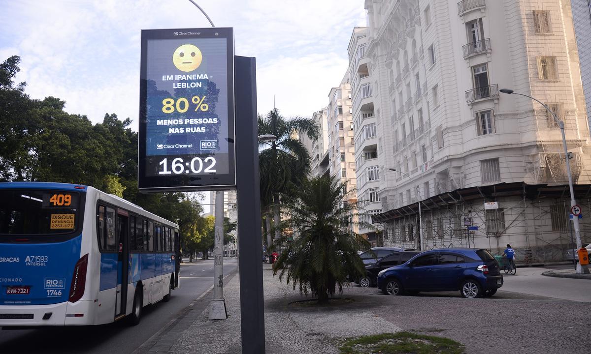 Rio de Janeiro recebeu recomendações de lockdown para conter coronavírus. Foto: Tomaz Silva/Agência Brasil