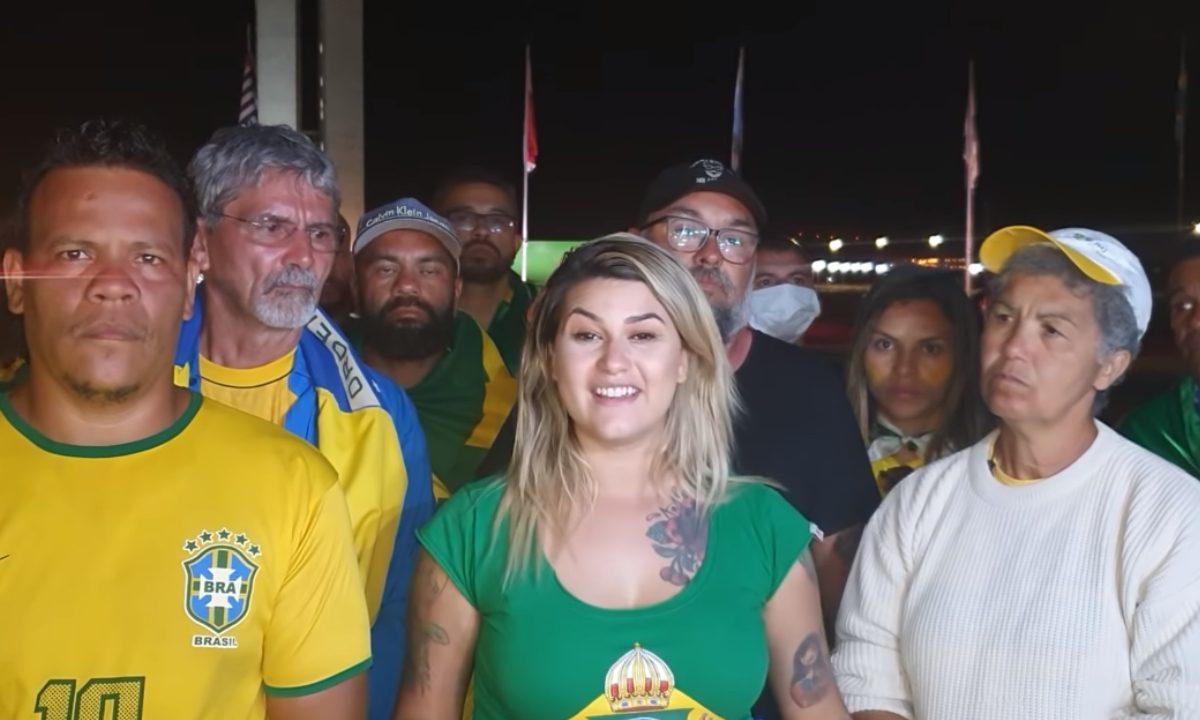 """Acampamento bolsonarista """"300 pelo Brasil"""". Foto: reprodução."""
