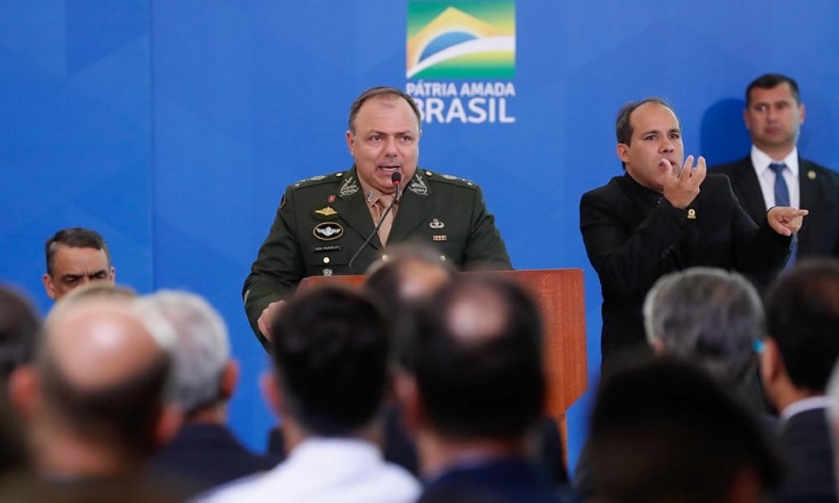 Ministro interino da Saúde, general Eduardo Pazuello . Foto: PR