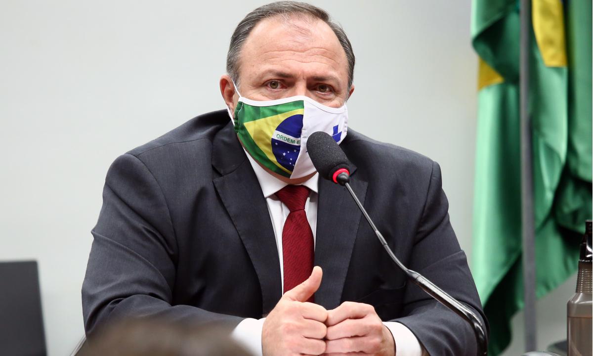 O ministro interino da Saúde, general Eduardo Pazuello. Foto: Najara Araújo/Câmara dos Deputados