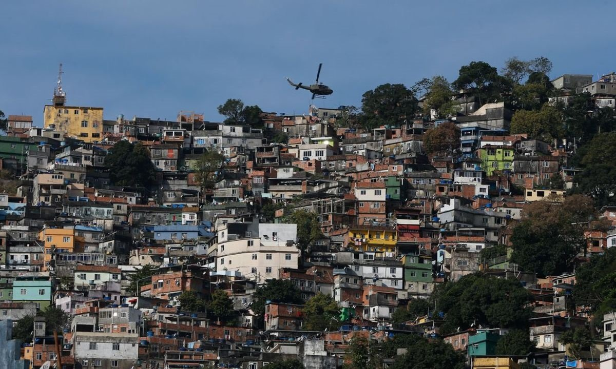Favela da Rocinha, no Rio de Janeiro. Foto: Fernando Frazão/Agência Brasil