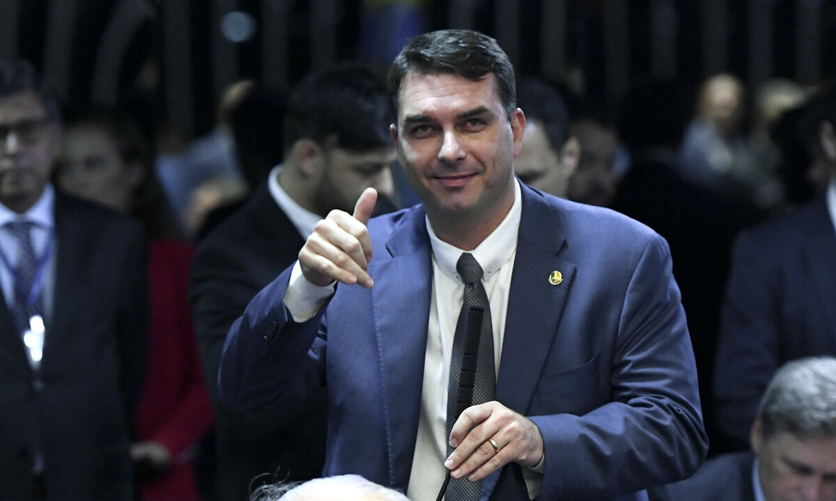 O senador Flávio Bolsonaro. Foto: Marcos Oliveira/Agência Senado