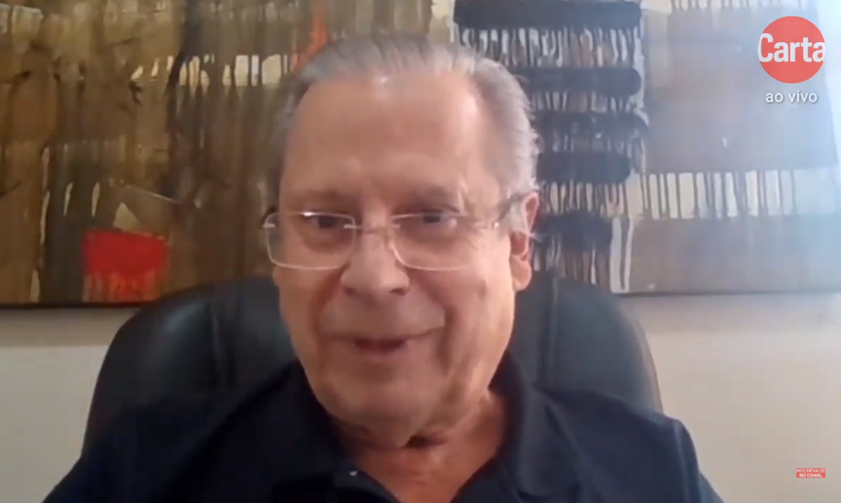 José Dirceu, em entrevista ao diretor de redação de CartaCapital, Mino Carta. Foto: Reprodução/YouTube